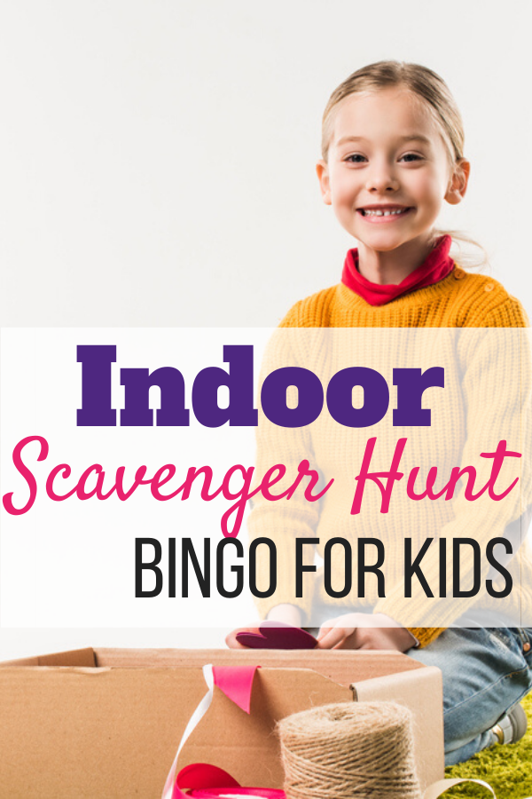Indoor Scavenger Hunt Bingo Pinterest Image